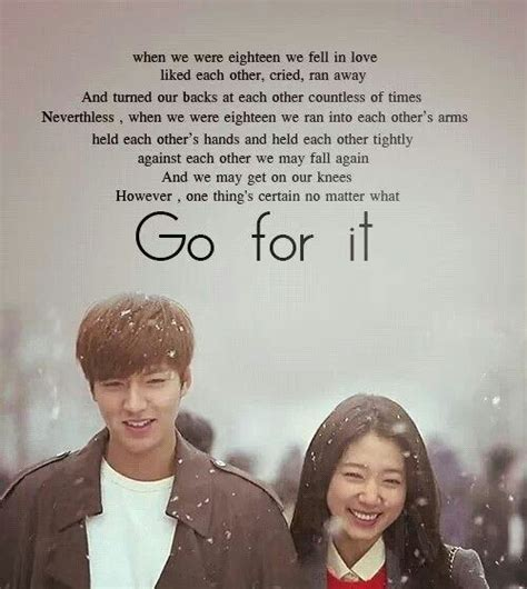 drama film zitate kim tan and cha eun sang kdrama the heirs dramas