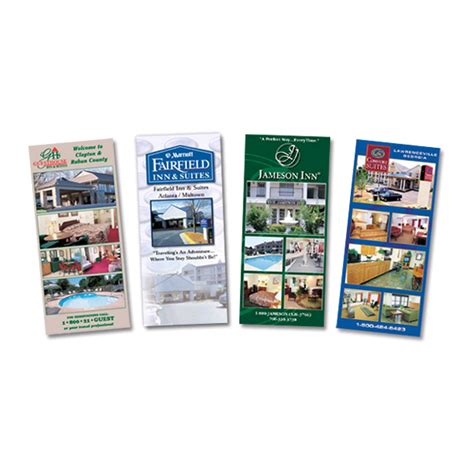 1 3 page flyer template vector empty bifold brochure print