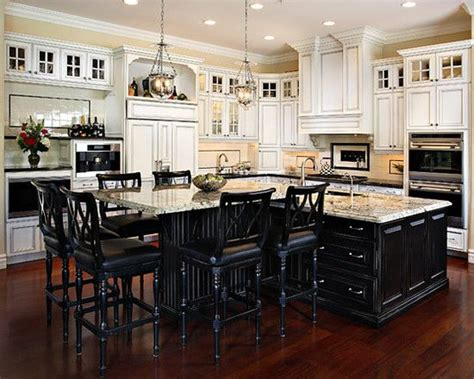 permanent kitchen islands this t shape kitchen island design pictures