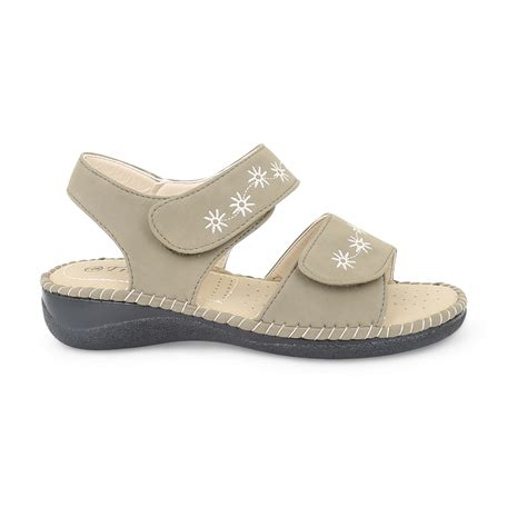 comfort sandals ladies womens velcro comfort wide casual walking flat