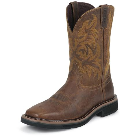 justin shoes s justin 11 quot stede pull on boots 582207 cowboy