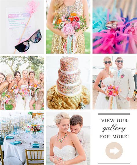 80 s pop themed wedding pink aqua gold wedding