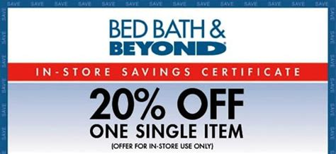 bed bath and beyond coupon code 20 off bed bath and beyond coupons 20 off single item