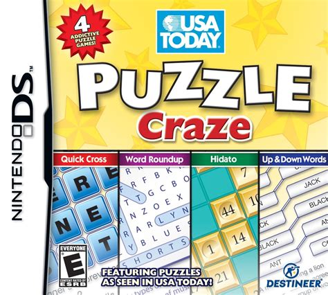 usa today crossword word roundup usa todays puzzle craze release date ds