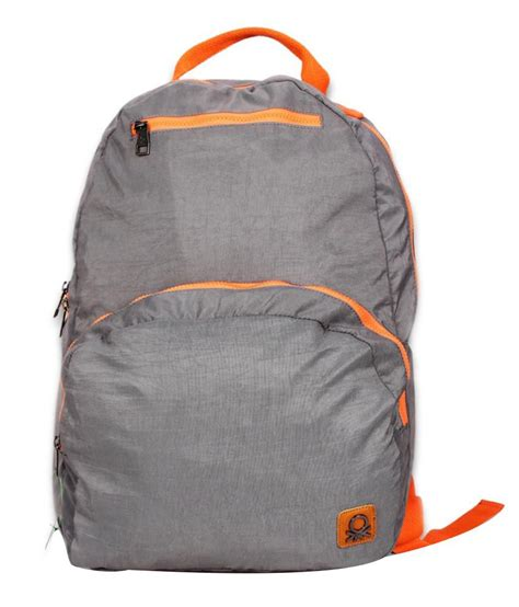 United Colors Benetton Bag Khaki united colors of benetton grey and orange polyester laptop bag buy at low price in india