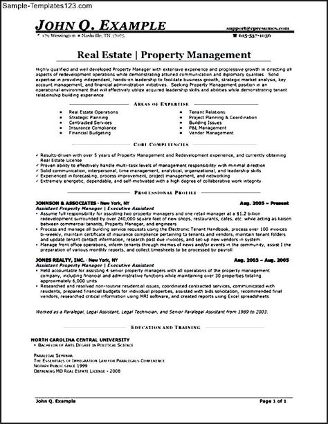 Sle Resume For Apartment Manager by Assistant Property Manager Resume Sle 28 Images Property Management Accountant Sle Resume 28