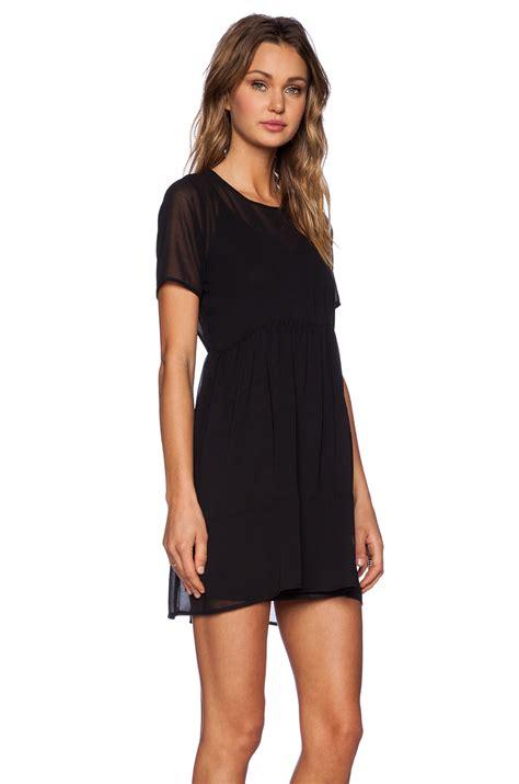 Clq Dress Mini Black lyst oh my sheer mini dress in black