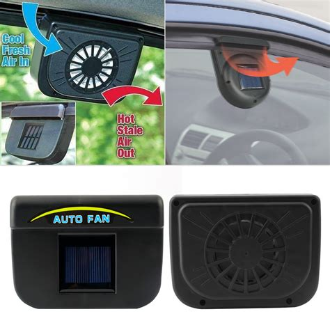 in car fan auto fan car ventilation system solar fan telebrands