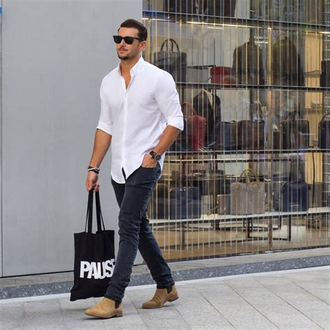 chelsea boots pria how to wear a white oxford shirt the idle man