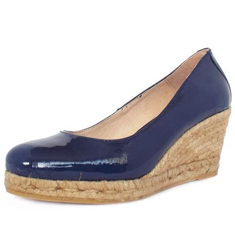 shoe wedges vidorreta celebration blue eco friendly espadrilles shoe