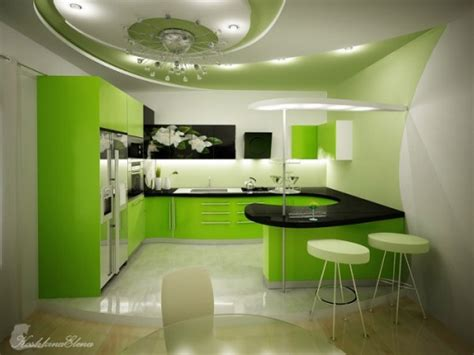 Fresh Home Kitchen Design | five fresh kitchen with green design by koshkina elena