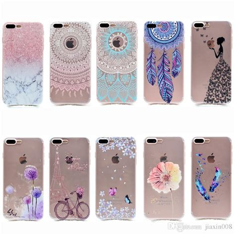 Iphone 5 Sai 7 Plus Custom Softcase Casing Sinar Ba 007 cool transparent tpu cover for iphone 7 plus fashion tower bike butterfly feather