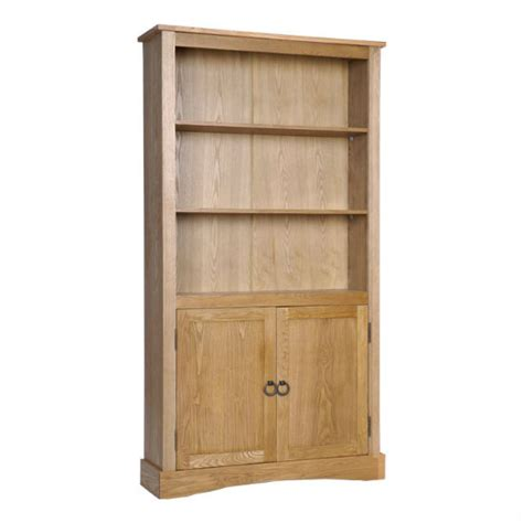 Vermont Wooden Tall Bookcase With 2 Doors And Shelves 2 Shelf Bookcase With Doors