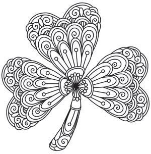 clover mandala coloring page mendhika shamrock st patrick s day pinterest adult