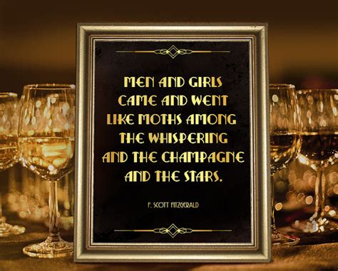 romantic theme in the great gatsby great gatsby party decor f scott fitzgerald quote poster