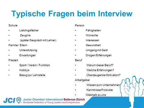 Fragen Im Bewerbungsgesprach Vom Arbeitgeber coaching f 252 r lehrstellensuchende tag 2 ppt
