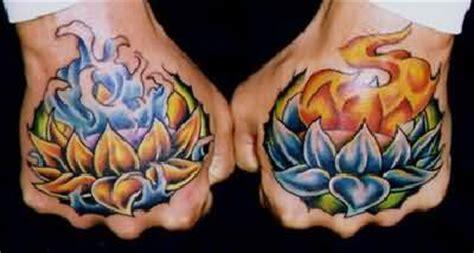 burning lotus tattoo lotus flower burning tattoos on