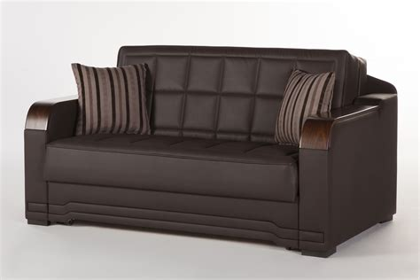 loveseat sleeper willow dark brown loveseat sleeper by sunset