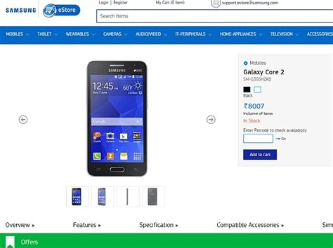 samsung drops galaxy core 2 price to take on android one samsung galaxy core 2 price in india slashed to rs 8 007