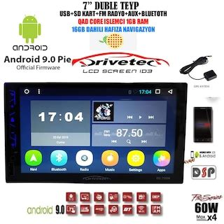 drivetech ad  double android  oto teyp gpsgb gb