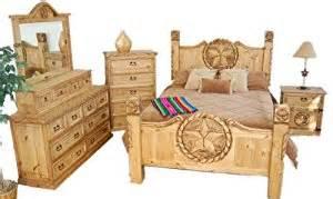 King Size Bedroom Sets Dallas Rustic Western King Size Lone Bedroom