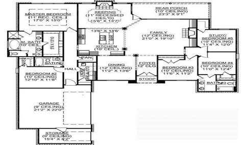 5 Bedroom House Plans Single Story by 1 Story 5 Bedroom House Plans 1 5 Story Floor Plans 4