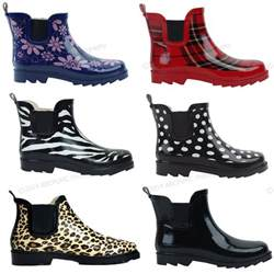 womens boots rubber ankle wellies wellington