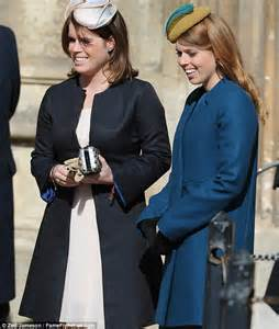 Easter Present Ideas beatrice and eugenie lead the family firm to church for