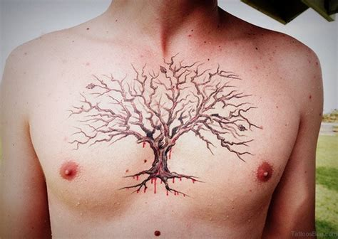 best looking tattoos for men 64 mind blowing tree tattoos for chest
