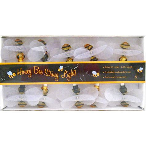 Honey Bee String Lights Insects Bugs Spring Garden Bumble Bee String Lights