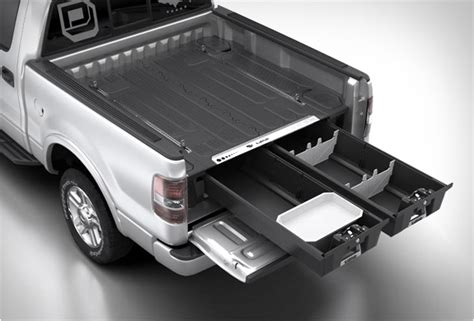 truck bed storage decked truck bed storage system