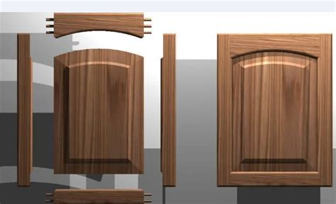 How To Level Kitchen Cabinet Doors Kitchen Cabinet Door Solid Wood Panel 3d Dwg Autocad Drawing Ww Workshop Pinterest