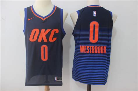 T Shirt Nba Oklahoma City Thunder Westbrook 0 Nike Blue nike nba oklahoma city thunder 0 westbrook jersey