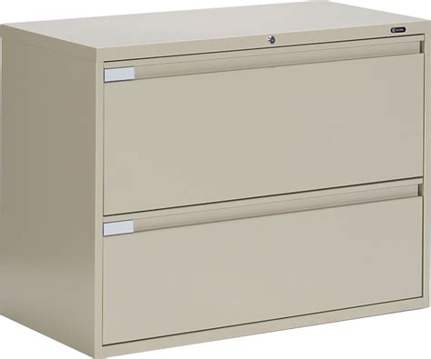 Lateral Two Drawer File Cabinet Global 9336p 2f1h 2 Drawer Lateral Filing Cabinet