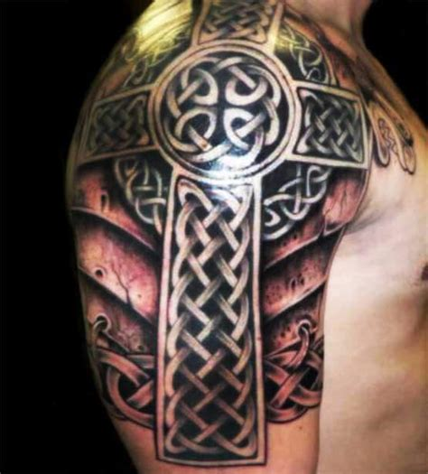 top 10 celtic shoulder tattoos for men