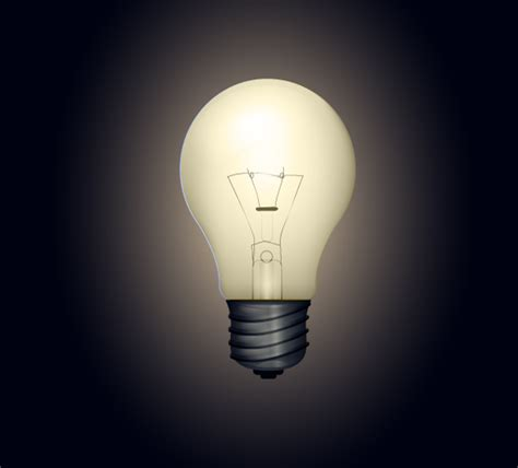 Light Bulb In by Bright Light Bulb Vector Lights On In An Hour Vectips