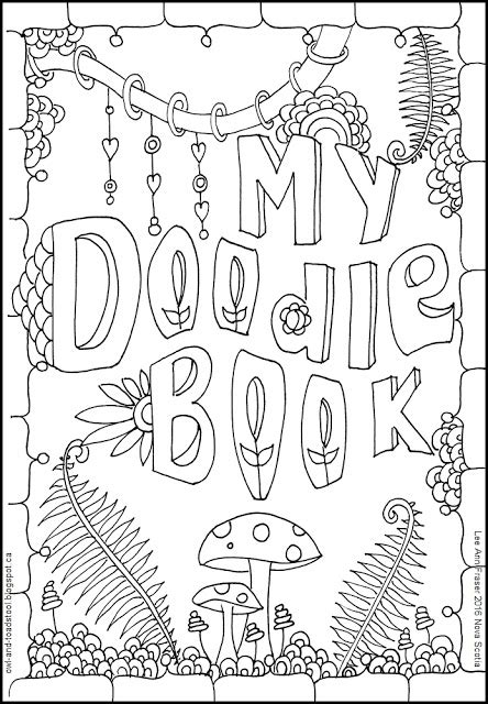doodle scout owl toadstool guides and scout doodles