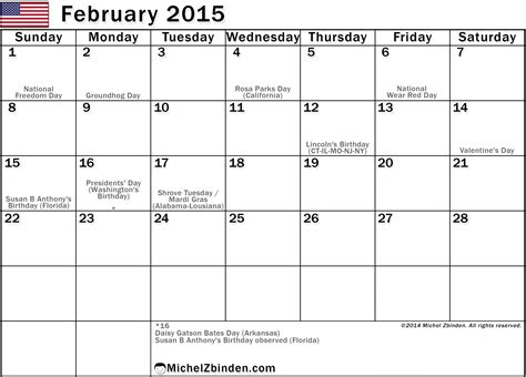 calendar template for february 2015 image gallery month of february 2015