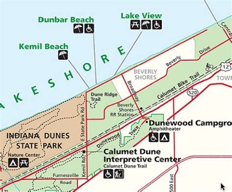 kemil beach indiana tourist map kemil beach indiana