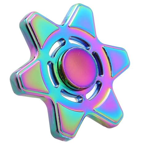 Fidget Spinner Rainbow fidget spinner hexagram rainbow spinner edc toys