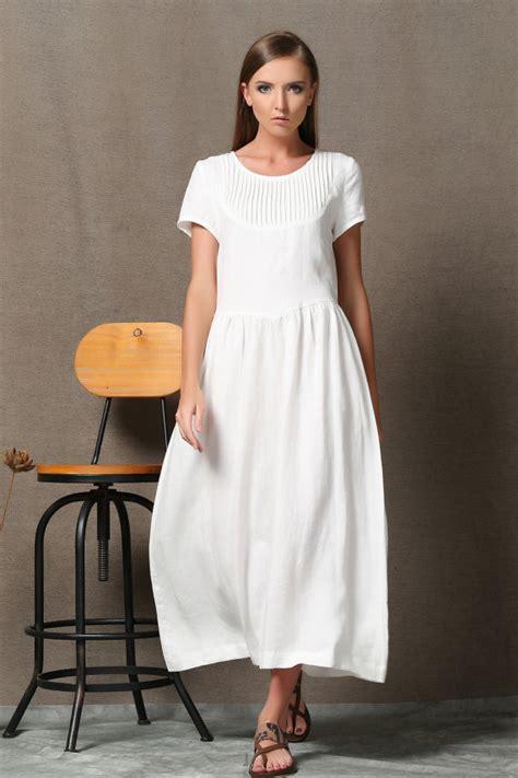 Longdress Plus Cd plus size dress linen dress maxi linen white dress