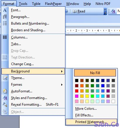 layout word 2003 how to give watermark to any of your microsoft office word