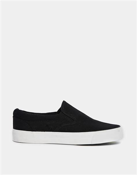 New Look Slip On by New Look New Look Manse Black Slip On Trainers At Asos