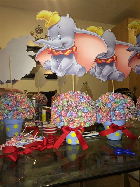 1st bday dumbo centerpieces for a circus theme 1st bday eli s