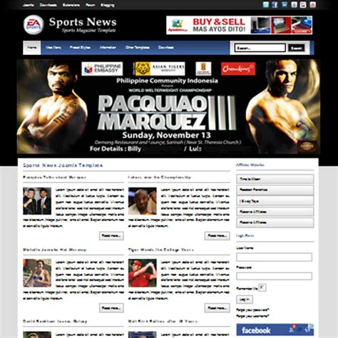 free sports news joomla template by primer themes