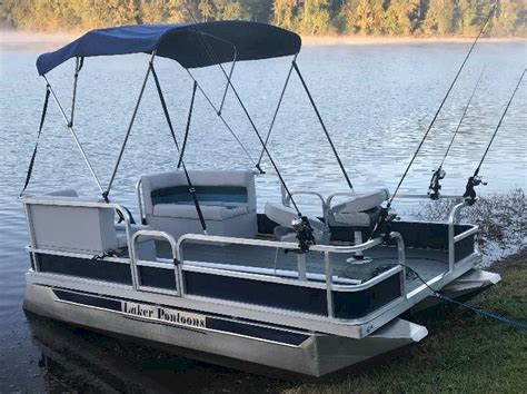 mini pontoon boats electric laker 712 dlx mini pontoon