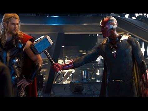 movie quality thor hammer avengers age of ultron vision lifts thor s hammer