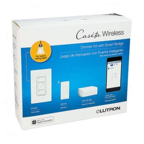 caseta wireless smart lighting dimmer switch starter kit lutron p bdg pkg1w caseta wireless smart bridge dimmer kit