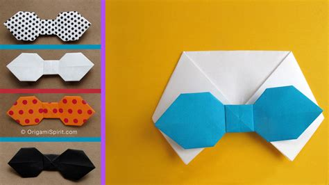 Easy Origami Bow Tie - how to make a paper bowtie for s day