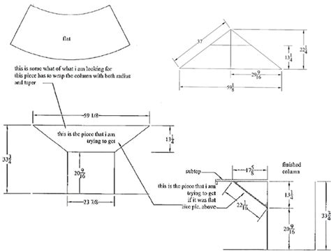 truncated cone template 28 truncated cone template paper tapared cylinder